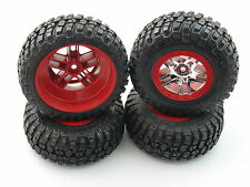 4 RED NEW TRAXXAS ULTIMATE SLASH 4X4 WHEELS BFGOODRICH TIRES SCT 12MM 6873A LCG