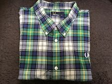 Used men's Fred Perry green checked shirt XXL