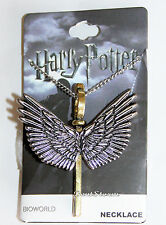 "Harry Potter Enchanted Flying Winged Key Keyblade Pendant Charm 24"" Necklace NEW"