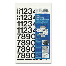 "PRESS ON STICK ON VINYL NUMBERS HELVETICA FONT BLACK 1"" SIGN POSTER ID EQUIPMENT"