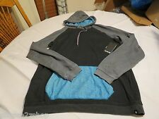 Hurley superior hoodie hoody shirt long sleeve Mens medium NEW black MFT0002590
