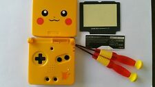 CARCASA COMPLETA+PANTALLA COMPATIBLE GAME BOY ADVANCE SP POKEMON YELLO NEW/NUEVO