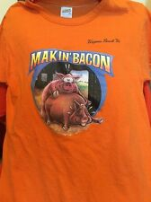 Vintage HOG MAKIN' BACON Virginia Breach, Va Sportswear 100% Cotton T Shirt.