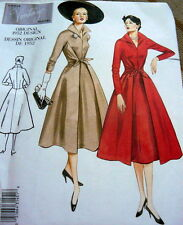 1950s VOGUE VINTAGE MODEL WRAP FRONT DRESS SEWING PATTERN 18-20-22 UNCUT