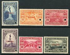 PANAMA 1936 POSTAL CONGRESS ISSUE COMPLETE with SPECIMEN OVERPRINTS C21-26