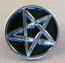 Metal Enamel Pin Badge Brooch Pentagram Pentangle 5 Pointed Star