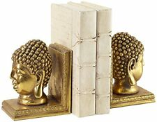 Gold Buddha Head Bookends Set of 2