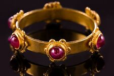 UNIQUE HANDMADE 22K GOLD RING w. CABOCHON RUBY THAILAND