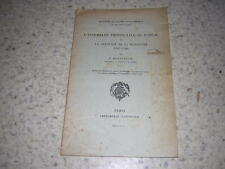 1904.assemblée Poitou & mendicité / Boissonnade.envoi autographe.révolution