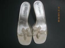Studio C Bridal Wedding Prom Party shoes size 8M - Ivory open toe