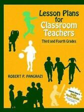 Lesson Plans for Classroom Teachers: Third and Fourth Grades