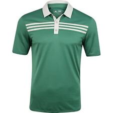 Adidas 3-Stripes Textured Polo (M) BC1669 Tech Forest