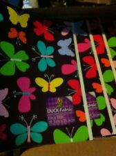 Wholesale Lot Of 6 Fabric Sheets 8 Inch X 10 Inch Butterflies 075353123614