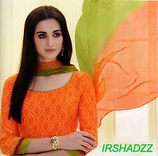COTTON PRINTED DRESS MATERIAL WITH CHIFFON DUPATTA ( BRAND PREYANSHI )