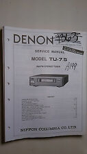 Denon tu-7.5 service manual original repair book stereo tuner radio