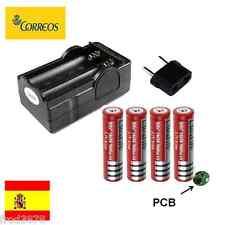 CARGADOR PILAS RECARGABLES Li-ion 2X 18650 + 4X pila 3000mAh proteccion PCB
