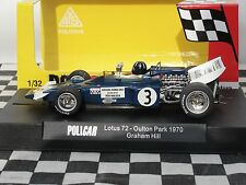 POLICAR LOTUS 72  #3 GRAHAM HILL  BLUE CAR02B 1:32 SLOT BNIB