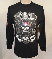 Loser Machine Men's LS T-Shirt Spirit of 74 Black Size M NEW Eagle Skull America
