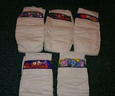 Vintage Pampers Diapers Cloth plastic landing zone sticky tabs Size 6 1 diaper