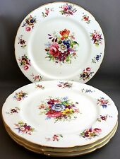 4 HAMMERSLEY DINNER PLATES-BOUQUET OF FLOWERS/SIGNED F. HOWARD  I 821