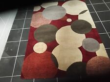HANDMADE, CONTEMPORY, BUBBLES, THICK WOOL RUG...5' x 3'...FREE DELIVERY