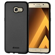 AMZER Pudding Matte TPU Case Back Cover For Samsung Galaxy A3 2017 A320 - Black