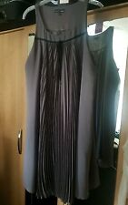 NEXT SIGNITURE DRESS SIZE 16 WITH PLEATED FRONT AND BACK IN GREY AND BLACK