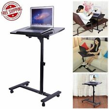 Adjustable Angle&Height Rolling Laptop Notebook Desk Stand Over Sofa Bed Ta