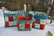 Patchwork Basket PATTERN, Quilting, Sewing, Scrap pattern, Sweet Jane Pattern