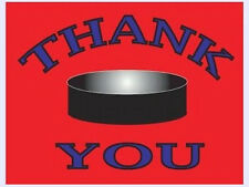 8 All Star Hockey Party Thank You Notes & Envelopes