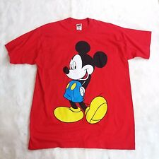 Mens Red Mickey Mouse T Shirt Size XL Fruit of the Loom Heavy Cotton Disney Tee