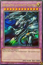 YuGiOh LDK2-ENK40 BLUE-EYES ULTIMATE DRAGON Ultra Rare 1st Legendary 2 & bonus