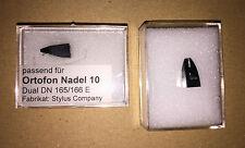 1 Stück Ersatznadel (Stylus Comp) für Ortofon Nadel 10 Dual DN165E DN166E 22,50€