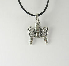 Scorpion Pendant Necklace 925 Sterling Silver Man Jewelry Scorpio Zodiac US Made