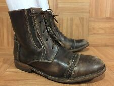 $265❤️ Bed Stu Lace Up Cap Toe Boots Distressed Leather Free People 8 Hipster