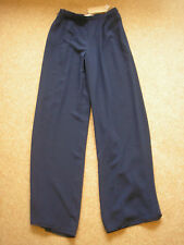 JACQUES VERT SIZE 8 DARK NAVY DRESSY TROUSERS. FULLY LINED NEW WITH TAGS