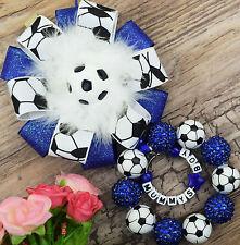 Personnalisé superbe landau charme dans le football perles bébé garçons filles idéal royal