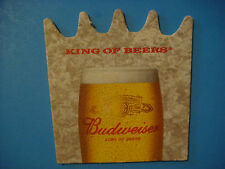 """Beer Bar Coaster ~*~ Anheuser Busch BUDWEISER """"The King of Beers"""" ~ St Louis, MO"""