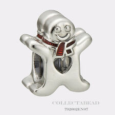 Authentic Pandora Silver Sweet Gingerbread Man Red Enamel Bead 792002EN07