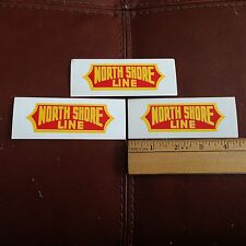 Railroad Decals (3) -Chicago North Shore & Milwaukee-NORTH SHORE - free shipping