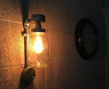 Vintage Retro Industrial Farmhouse Style Wall Light Fitting Jar Pipe Mason Ball