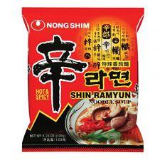 5 x SHIN RAMYUN  je 120 g NONG SHIM  Nudelsuppe Rind Scharf !