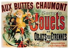 VINTAGE AUX BUTTES CHAUMONT JOUETS ADVERTISING A4 POSTER PRINT