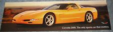 """Double-Sided Corvette Banner Poster - 36"""" x 11""""   Corvette 2000 Model Year NEW!"""