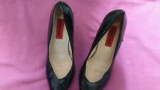 LONDON REBEL Ladies black patent high heels size 4