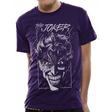 Batman - Joker Face Unisex Purple T-Shirt Large Brand New