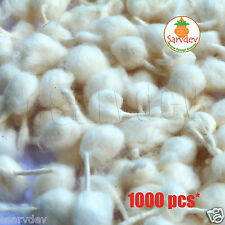 Natural Dry Round Cotton Whicks 1000pcs. for Diya Lamp in Morning/Evening Puja