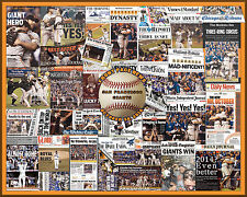 """SF Giants 2014 World Series Newspaper Collage Poster- 16x20"""" Unframed"""