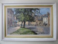 John Neale British Impressionist OIL PAINTING Cotswolds Scene - Seago Interest
