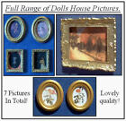 1/12, Dolls House miniature Picture x7 Mixed Pictures Painting Set B NEW LGW